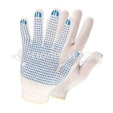 Перчатки рабочие х/б ткань с ПВХ точкой