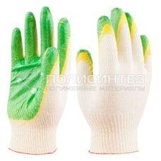 Перчатки рабочие х/б ткань с двойным обливом